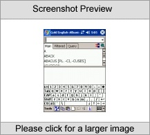 LingvoSoft Gold Talking Dictionary English <-> Albanian for Pocket PC Screenshot